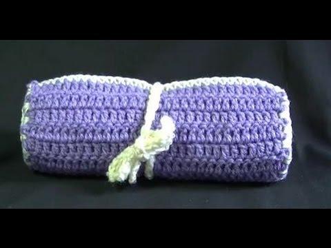 Crochet Hook Make Up Brush Case Tutorial Easy Youtube