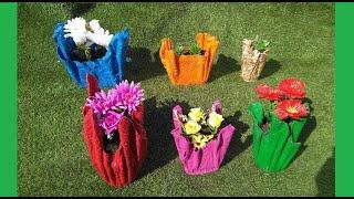 Como hacer Macetas De Cemento y Toallas, viejas   Ideas creativas.