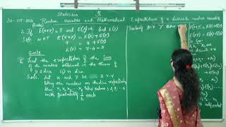 I PUC/ STATISTICS/ RANDOM VARIABLES AND MATHEMATICAL EXPECTATIONS-09