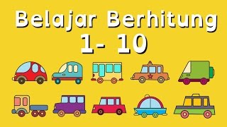Download Video Belajar Berhitung Angka 1 - 10 untuk Anak Balita (PAUD) dengan Kartun Mobil MP3 3GP MP4