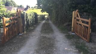Hardwood Five Bar Gates In Motion