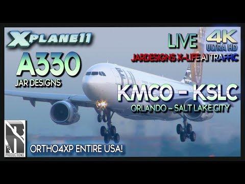 X-PLANE 11 | 4K |  A330 | KMCO - KSLC | ORLANDO TO SALT LAKE