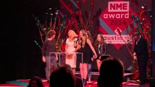 NME Awards 2014 - Haim Accept Best International Band
