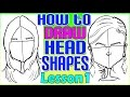 How To Draw Quick Caricature Head Shapes Lesson 1