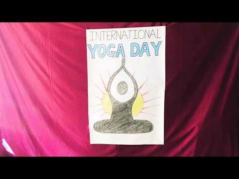 Yoga day celebration in Tiny Tots preschool.