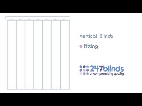 vertical blind fitting instructions youtube. Black Bedroom Furniture Sets. Home Design Ideas