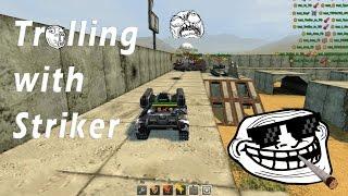 Tanki Online | Trolling with Striker | Test server - Mega Epic!