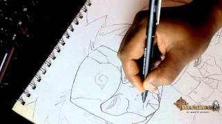 How to Draw speed drawing Tobirama Senju 2nd hokage part 2 - Inking