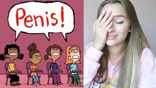 Странный урок про месячные в школе / РЕАКЦИЯ на мульт story booth rus!