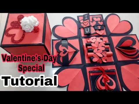 Valentines Special Explosion Box ||How to Make Love Valentine's Day Explosion BOX||Valentine's Day