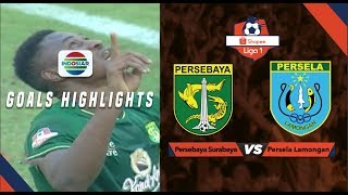 Persebaya Surabaya (3) vs Persela Lamongan (2) - Goal Highlights | Shopee Liga 1