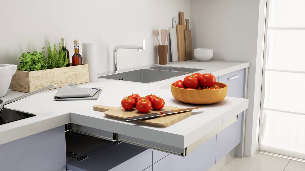 Flip Top Pull Out Worktop Box15