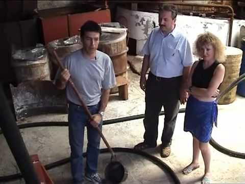 Making traditional olive soap at the Patounis factory in Corfu, Greece