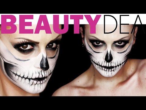 Skull make up  teschio trucco Halloween 2015  f621e1535e86