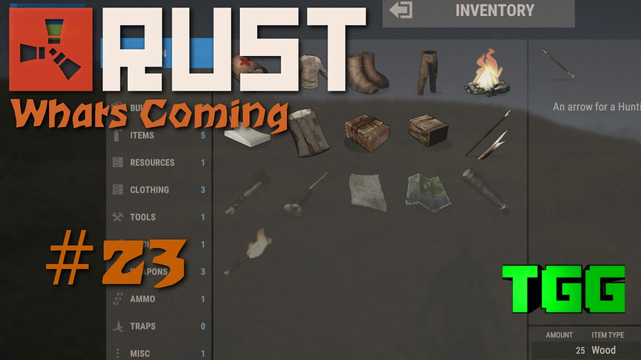 Rust What S Coming Time Lapse Of Leveling Up Using Earned Xp 23 Rust News Updates Youtube