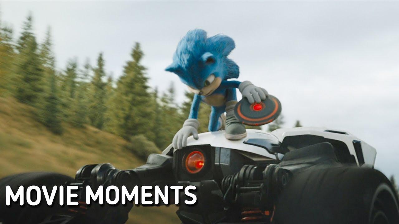 Роботник догоняет Соника и Тома. Соник в кино - YouTube