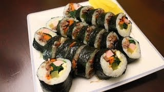 How to Make Korean Traditional Kimbap (김밥)