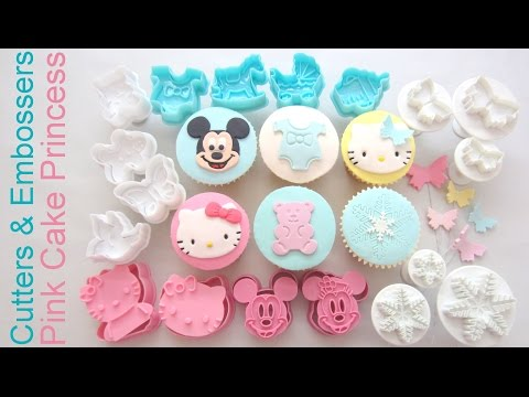 How to Use Cutters & Embossers for Cupcake Decorating - Product Review Collaboration