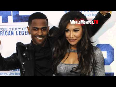 Glee Naya Rivera and Rapper Big Sean True Love holding Hands at 42 LA premiere