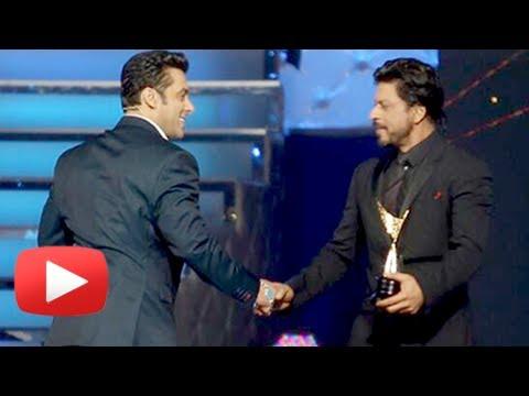 Salman Khan Forces Shahrukh Khan To Say JAI HO At Star Guild Awards 2014