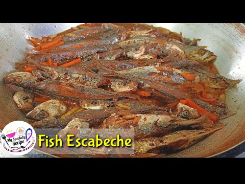 How To Cook Fish Escabeche|Escabeche Recipe|Quarantine Recipe|Escabeche Galunggong Recipe