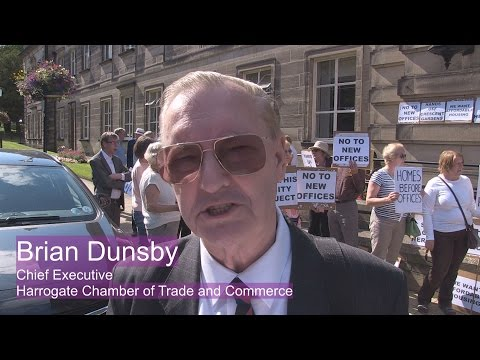 Protest against Harrogate Borough Council Office build - Brian Dunsby Chamber of Trade and Commerce