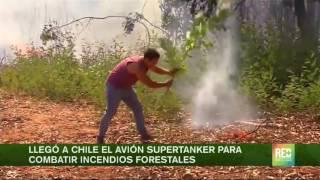 Llegó a chile el avión Supertanker para combatir incendios forestales