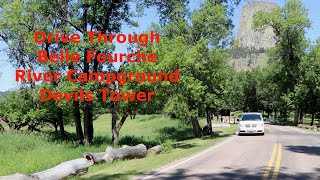 Download Video Devils Tower Belle Fourche River Campground drive through inside Devils Tower National Monument. MP3 3GP MP4