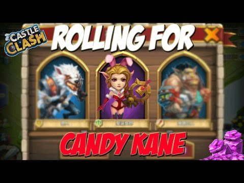 Castle Clash Rolling For Candy Kane!