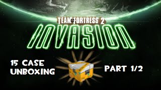 TF2 - 15 Quarantined Case Unboxing (Invasion Unboxing 1/2)