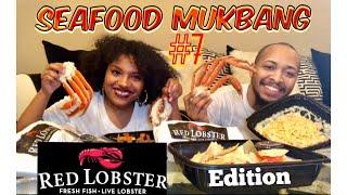 Seafood Mukbang #7 | Shrimp/ Lobster Tail/ Snow Crab Legs/Lobster Dip/ Pasta (Red Lobster Edition)