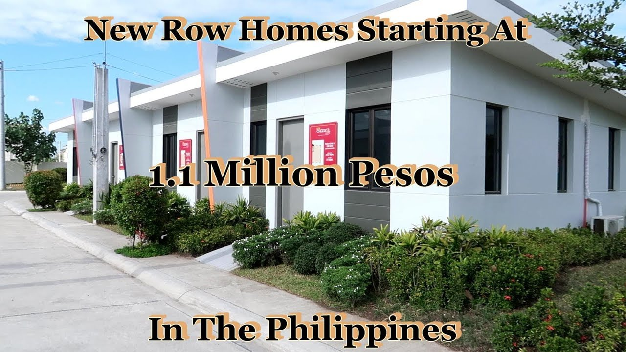 2019 - New Row Homes Starting At 1 1 Million Pesos In The Philippines