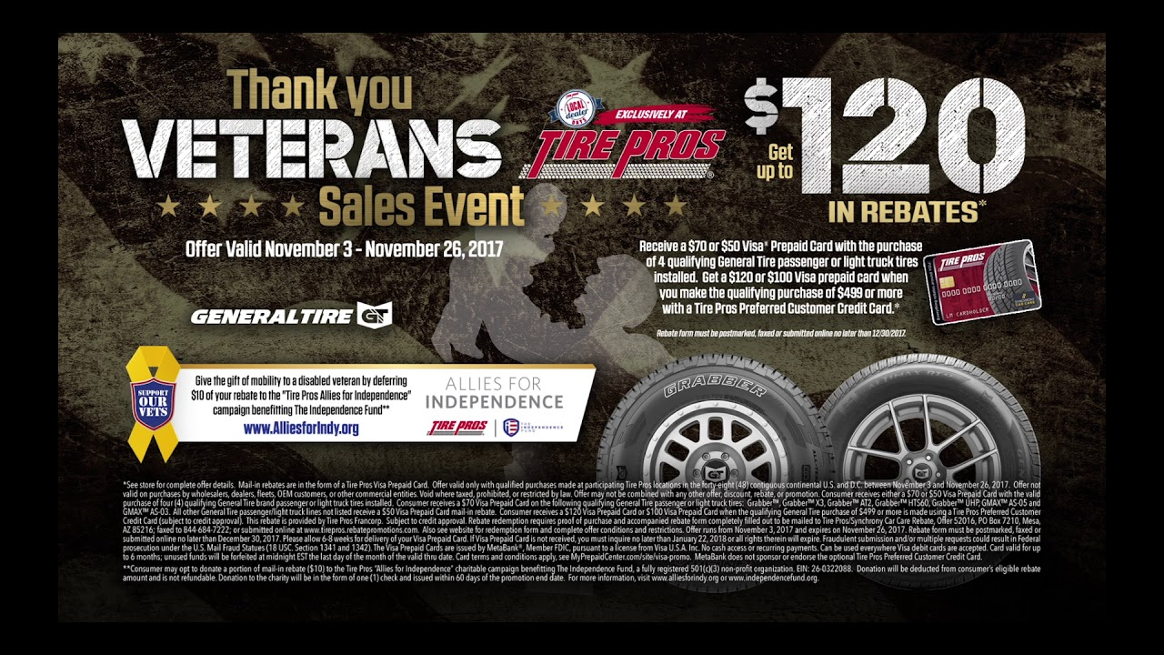 Thank You Veterans Sales Event - YouTube