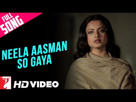 Neela Aasman So Gaya Female  Full Song HD  Silsila  Amitabh Bachchan  Rekha  Lata Mangeshkar