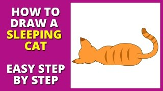 How to Draw a Sleeping Cat - How to Make a Cat Sleep