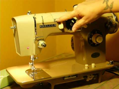NIFTYTHRIFTYGIRL Vintage Nelco Model N40B Sewing Machine YouTube Best How To Thread A Vintage Nelco Sewing Machine