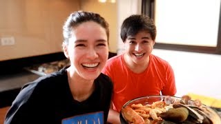 Cooking Garlic Butter Seafood with MJ ♥️ | Erich Gonzales