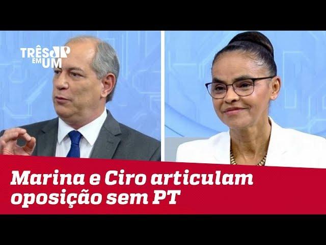 Marina Silva e Ciro Gomes articulam oposição sem PT