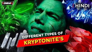 Top 10 || Different types of KRYPTONITE || HINDI || DC Comics || DCEU