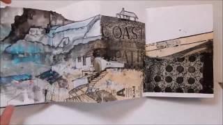 Karen Stamper - Creative Concertina Sketchbooks - Brisons Veor, Cornwall