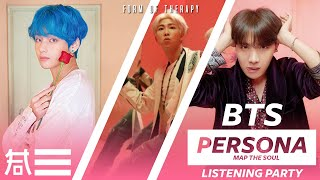 """Listening Party: BTS """"Map The Soul PERSONA"""" Album Reaction - First Listen"""