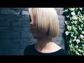 one length haircut, line technique