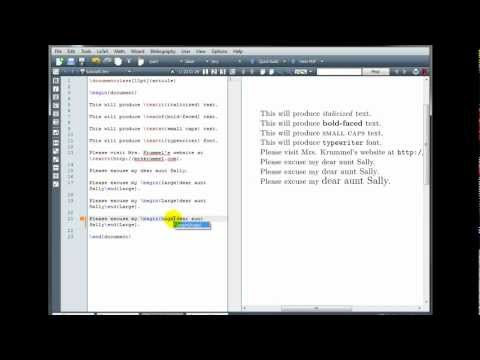 LaTeX Tutorial 5 - Text and Document Formatting - Part 1/2