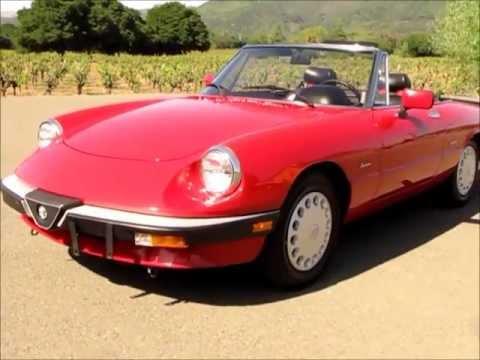 Alfa Romeo Spider For Sale In Sonoma CA YouTube - 1986 alfa romeo spider for sale