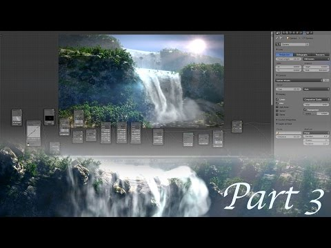 Create Gorgeous Waterfalls - Blender Tutorial - 03 : Rendering & Compositing!