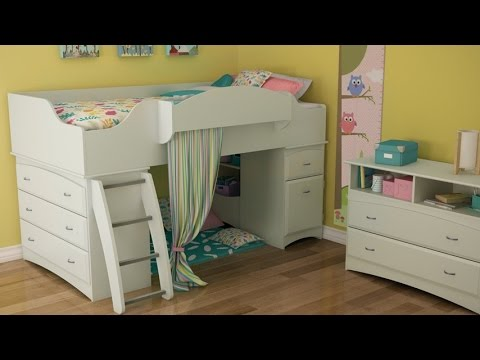 Lovely South Shore Imagine Collection Twin Loft Bed Kit In Pure White Finish Designed For Kids Bedroom