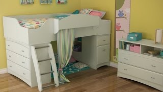 South Shore Imagine Collection Twin Loft Bed Kit In Pure White Finish Designed For Kids Bedroom