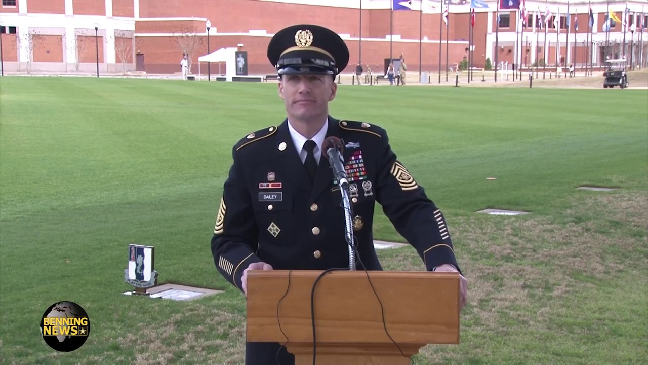 Sergeant Major of the Army Daniel A  Dailey visits Fort Benning