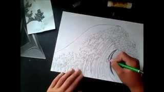 dessin N3:vague et dragon