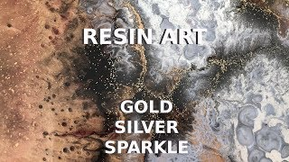 Resin Art with Gold, Silver and Sparkles - Arijana Lukic #10